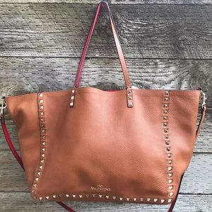 Valentino Leather Rockstud Reversible Tote